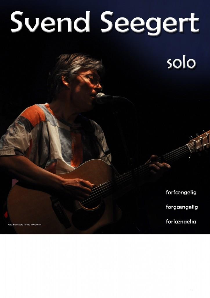 Svend Seegert solo plakat